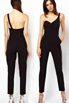 Jumpsuit mono de fiesta un tirante - Corsets online lenceria vestidos