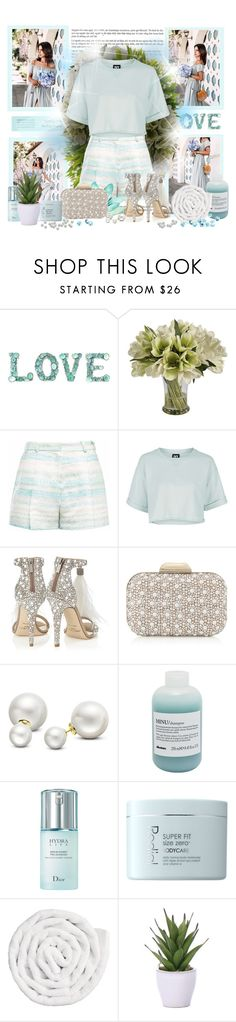 """""""Ice"""" by sheavschaaf ❤ liked on Polyvore featuring Tiffany & Co., Diane James, Jane Seymour Botanicals, Gyunel, Topshop, Jimmy Choo, Allurez, Davines, Christian Dior and Rodial"""