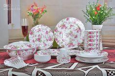 Wholesale Dinnerware Sets Bone China Korean Style love of flower