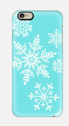 iPhone 6 Case  Seafoam Snow Flake iPhone 6 by cellcasebythatsnancy