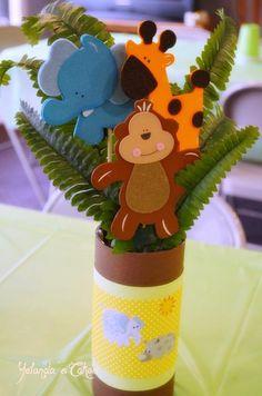 Centros de mesa para baby shower de animalitos - Imagui