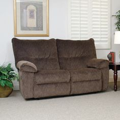 simmons lucky espresso reclining console loveseat. balance of price and performance serta upholstery double reclining loveseat big savings! simmons lucky espresso console a