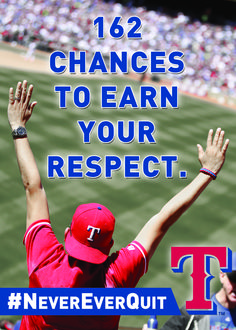 162 chances to earn your respect. #NeverEverQuit