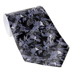 Shop Elegant Blue & Grey Dark Floral Tie created by BlueRose_Design. Custom Ties, Unique Image, Floral Tie, Blue Grey, Night Out, Dark, Elegant, Create, Stylish