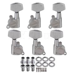 Yibuy Chrome Acoustic Guitar Tuning Pegs Tuners Machine Heads 3L3R. Yesterday's price: US $12.70 (10.41 EUR). Today's price: US $9.14 (7.54 EUR). Discount: 28%.