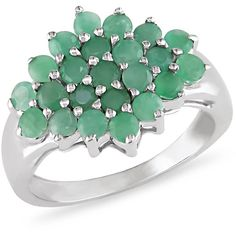 Ice 2 CT Emerald Sterling Silver Ring ($110) ❤ liked on Polyvore featuring jewelry, rings, women's accessories, sterling silver jewellery, emerald jewelry, ice jewellery, ice jewelry and ice ring