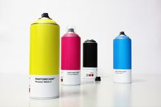 Italian graffiti artist NICO189 has created a set of conceptual spray paint cans using colors from the Pantone Matching System.