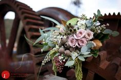 Australian vintage inspired wedding ideas - brides bouquet with gumnuts