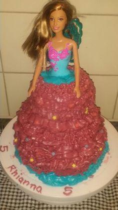 Barbie doll buttercream  cake