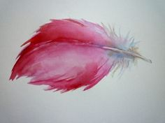 I love feathers. and I love watercolor. this would be cute in a gallery wall.