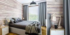 Mała sypialnia w drewnie