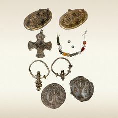 OBJECTS FROM A FEMALE BURIAL-PLACE. KIEV 10th C