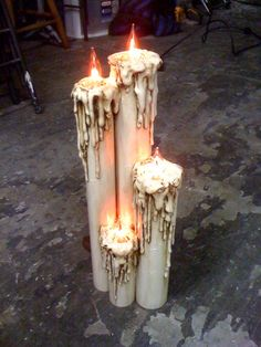 Halloween Candles-made from PVC pipes