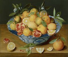 Jacob van Hulsdonck, Still life with lemons, orange and pomegranate, c. 1620-1640, oil on panel, 41.9 x 49.5 cm, The Paul Getty Museum, Los Angeles.
