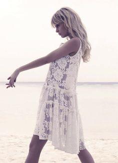 White lace dress - perfect for the beach! #MySpringFashionPalette @catalogs
