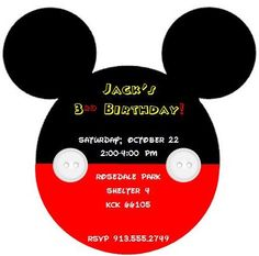 Mickey Mouse birthday/baby shower invite
