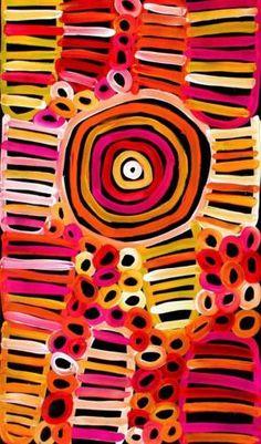 Aboriginal Art Painting by Raelene Stevens 46cm x 80cm