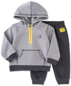 Calvin Klein Baby Boys' 2-Piece Hoodie & Pants Set