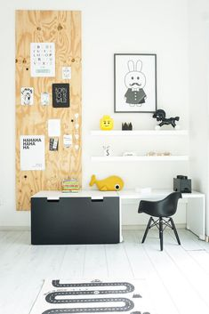 How to Decorate a Kid's Room with Lego - pops of colour, monochrome skeleton box, toy storage boxes.Inspiration and Ideas Toddler Rooms, Baby Boy Rooms, Casa Kids, Baby Room Design, Toy Rooms, Kids Corner, Kid Spaces, My New Room, Kids House