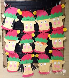 Elf Craft for the Classroom: Simple, quick, and easy craft for kindergarten and first grade classrooms. Includes writing activities, too!