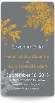 Mini Save the Date Magnets - Autumn Stamp