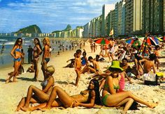 Brazil in the a paradise of cool and suave. The nonchalant sentiment of an age typified by effortless class took musical form in Bossa Nova. Characterized by its smooth beats, cool sensibility, a slight off-tune rhythm, Bossa Nova created. Vintage Swim, Vintage Bikini, Vintage Ads, Rat And Boa, Copacabana Beach, Cities, Hippie Culture, Brazil Travel, Tours