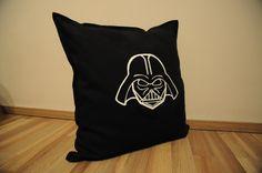 Darth vader pillow. Ručně malovaný polštář. 50x50 cm