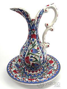 Iznik Design Ceramic Pitcher Set