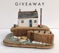 GIVEAWAY  So exciting!! I've managed to muscle in on a giveaway offer with 2 of my favourite people: my sister @chambersandbeaujewellery and queen of super chunky knits @laurenastondesigns ! One lucky winner can scoop this little driftwood cottage, a Winging It necklace from Amy and a beautiful scarf from Lauren (swipe for photos). All you have to do to enter is follow all 3 accounts and tag a friend within the comments. You can enter as many times as you like on all accounts by tagging a...