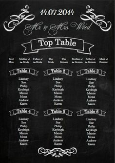 Vintage Quirky Chalkboard Blackboard effect wedding seating table plan Wedding Seating Signs, Wedding Reception Decorations, Wedding Favours, Wedding Signs, Wedding Stationery, Wedding Receptions, Wedding Decor, Chalkboard Table Plan, Chalkboard Wedding