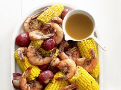 Shrimp Boil - used a bottle of beer, 12 oz chicken broth & 1/2 stick butter in sauce (a total of 4 quarts liquid). Added kielbasa  sausage. Served crusty bread for dipping.