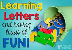 This blog post has a TON of unique ideas for teaching letters. So many new ideas!
