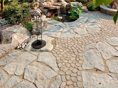Landscape Plus LLC installs patios with garden ponds, waterfalls, fountains and pondless waterfalls. Patio Slabs, Paver Walkway, Maya, Patio Builders, Pond Waterfall, Waterfall Design, Pond Landscaping, Landscape Materials, Patio Design