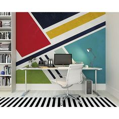 WALS0218 - Retro Angles Wall Mural - by OhPopsi