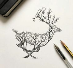 Image de animals, deer, and draw
