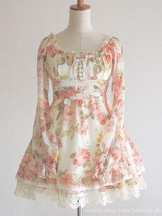 LIZ LISA Floral Off-shoulder Yui Kanno Rose OP Dress Lolita Hime gyaru Japan #LIZLISA #Peplum #Party