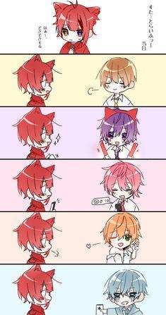 Twitter Anime Boy Sketch, Nagisa And Karma, Kawaii Cat, Kuroko, Me Me Me Anime, Neko, Watercolor Art, Chibi, Cool Art