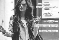 I don't like Elounor but she still is really pretty. I would never call her a role model though. Nobody has even heard her talk! She still is very pretty though