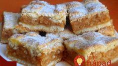 Fantastický koláčik, vyskúšajte ho napríklad z nových jabĺčok. Hungarian Cake, Hungarian Recipes, Bakery Recipes, Dessert Recipes, Cooking Recipes, Apple Recipes, Sweet Recipes, Pretzels Recipe, Xmas Dinner