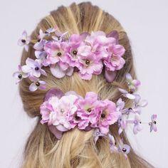 grampo de flores, presilha de flores, arranjo para cabelo, grampo para penteado, acessório para penteado, penteado de noiva - G. Offer