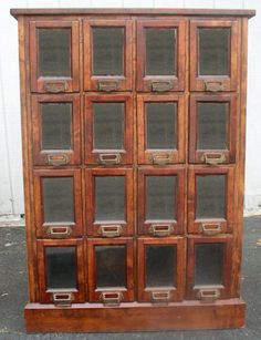 Country Store Display Cases, BRASS LANTERN ANTIQUES Pattern Cabinet
