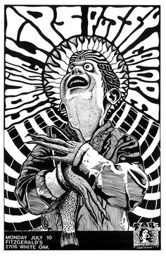 Frank Kozik poster | Frank Kozik is an American graphic artist best known for his posters for alternative rock bands. Kozick has worked with Nirvana, Pearl Jam, Stone Temple Pilots, the Red Hot Chili Peppers, Melvins, The Offspring and Butthole Surfers. -Wikipedia
