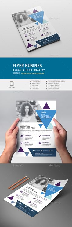 Multipurpose Business Flyer Template Vector EPS