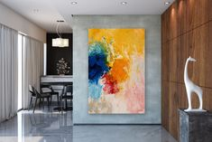 Items similar to Large Modern Wall Art Painting,Large Abstract Painting on Canvas,large art on canvas,texture art painting,canvas wall art on Etsy Oversized Canvas Art, Large Canvas Art, Abstract Canvas Art, Acrylic Canvas, Modern Oil Painting, Large Painting, Oil Painting Abstract, Painting Canvas, Wall Canvas