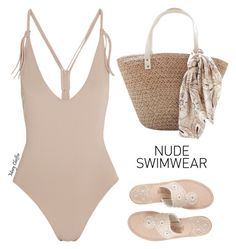 """Including Every Shade of Nude"" by mcheffer ❤ liked on Polyvore featuring Eres, Jack Rogers and nudeswimwear"