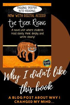 The Tiger Rising is a staple mentor text in many elementary classrooms--but I just was NOT feeling it! Check out this blog post to see why I changed my mind about using this powerful little novel with MY class! #thetigerrising #tigerrising #readaloud #fourthgrade #thetigerrisingquestions #thetigerrisingworksheets #thetigerrisingreadaloud Teaching Narrative Writing, Writing Resources, Reading Strategies, Book Club Books, My Books, Teaching Resources, Teaching Ideas, Genre Study, Realistic Fiction