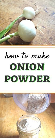 Here's a quick and easy tutorial for how to make onion powder from fresh onions at home. It's so easy, and tastes better than anything store-bought! Homemade Spices, Homemade Seasonings, Dehydrator Recipes, Food Processor Recipes, Cocina Natural, Curry, Dehydrated Food, Dehydrated Vegetables, Seasoning Mixes