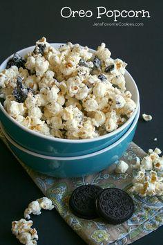 Oreo Popcorn from @jen's Favorite Cookies Jen's Favorite Cookies