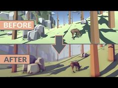 Unity 2017 Tutorial - Lighting And Post Processing Low Poly Scene - YouTube