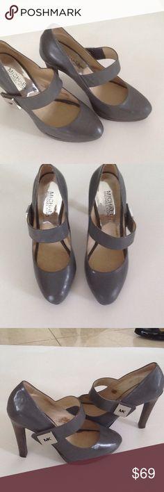 "Michael Kors shoes Michael Kors gorgeous gray shoes.  4"" heels .5 platform.  Wore them maybe twice. Michael Kors Shoes Heels"